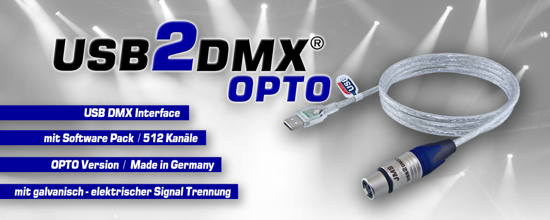 DMX Interface USB2DMX OPTO Controller